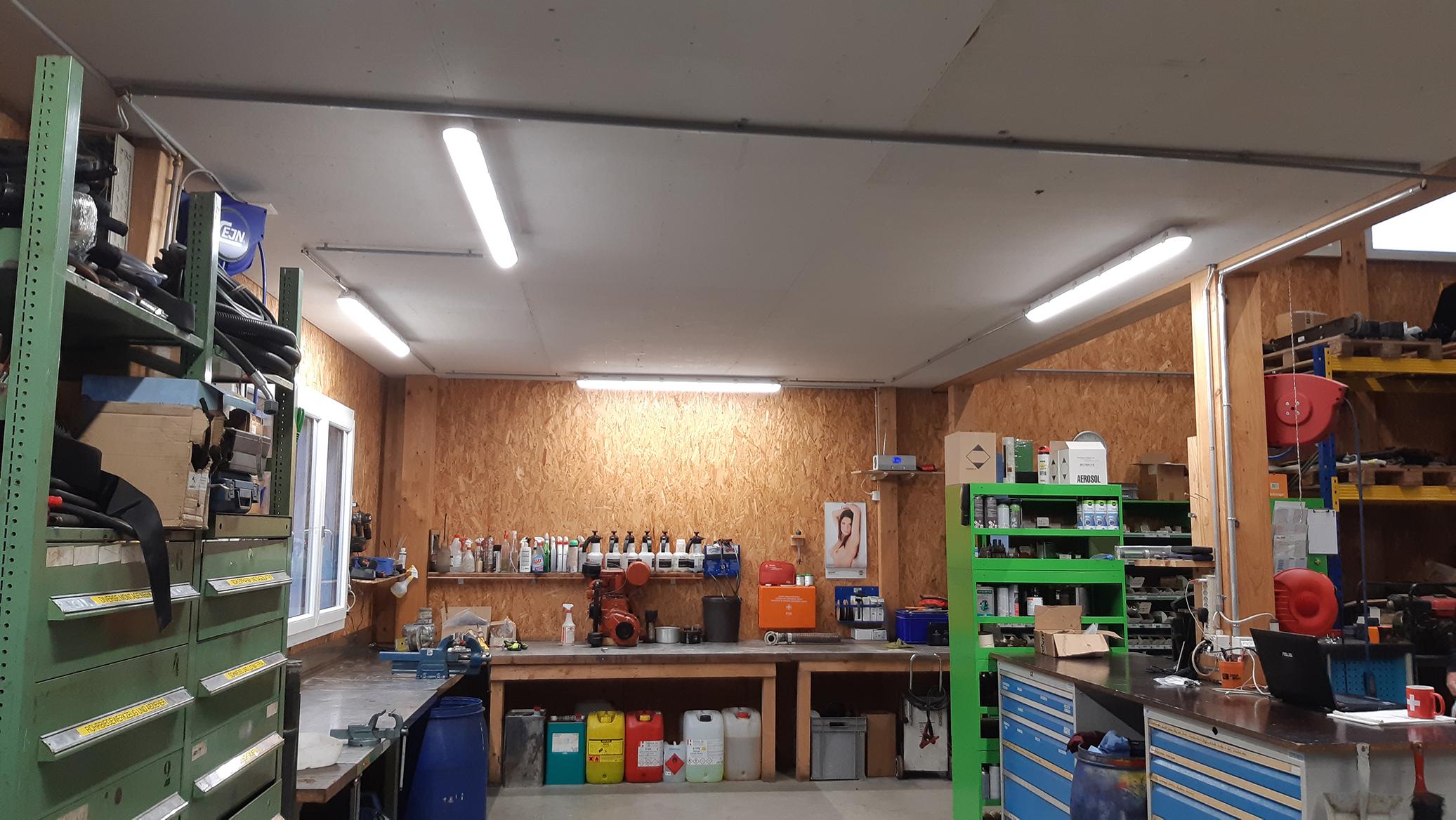 Werkstatt Beleuchtung