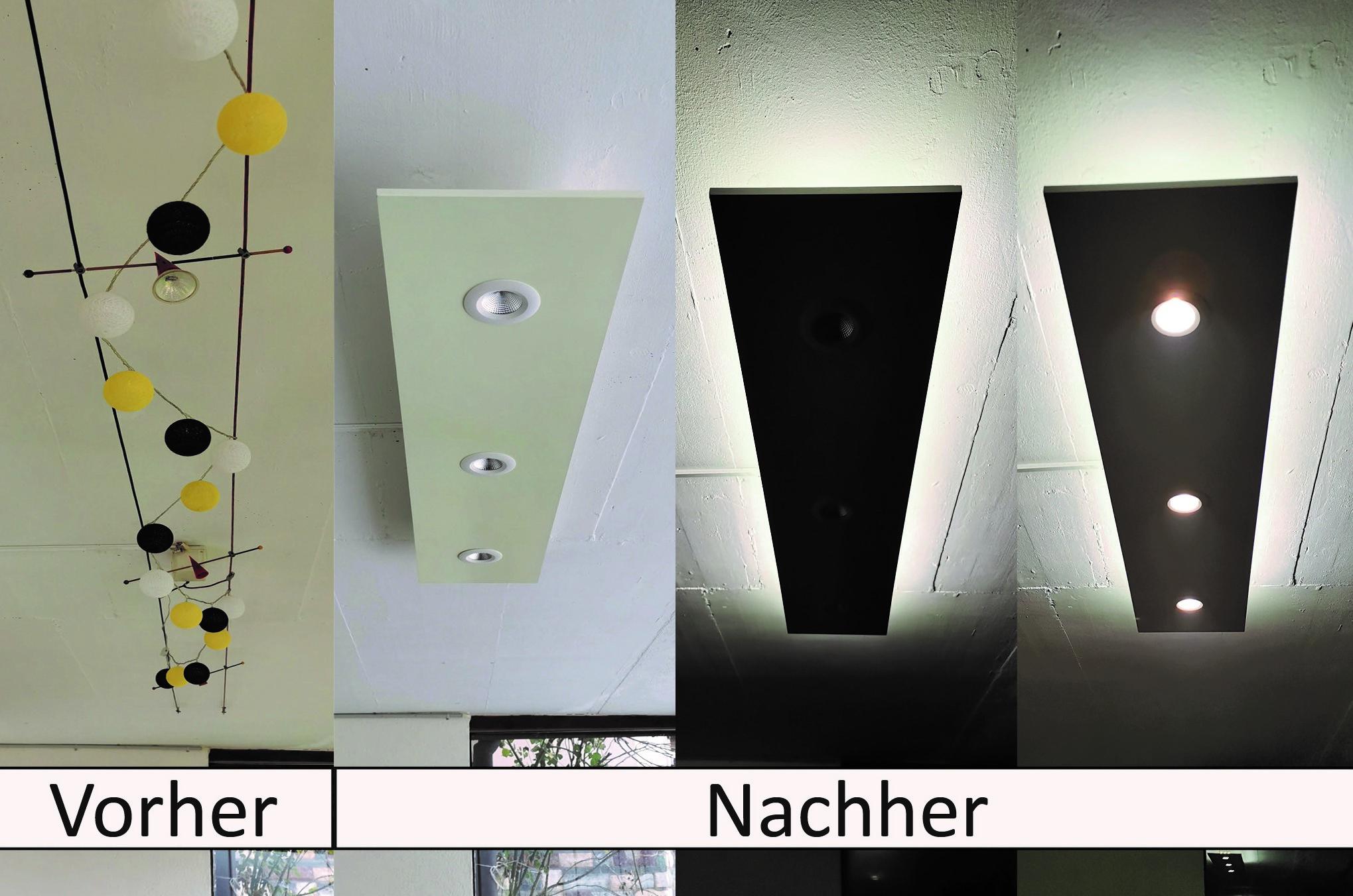 Beleuchtung Marke Eigenbau vorher nachher_
